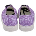 DAMASK2 WHITE MARBLE & PURPLE DENIM (R) Women s Classic Low Top Sneakers View4