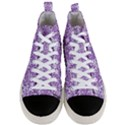 DAMASK2 WHITE MARBLE & PURPLE DENIM (R) Men s Mid-Top Canvas Sneakers View1