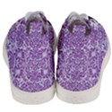 DAMASK2 WHITE MARBLE & PURPLE DENIM (R) Men s Mid-Top Canvas Sneakers View4