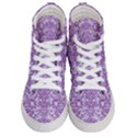DAMASK2 WHITE MARBLE & PURPLE DENIM (R) Women s Hi-Top Skate Sneakers View1