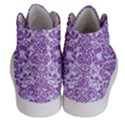 DAMASK2 WHITE MARBLE & PURPLE DENIM (R) Women s Hi-Top Skate Sneakers View4