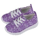 DAMASK2 WHITE MARBLE & PURPLE DENIM (R) Kids  Lightweight Sports Shoes View2