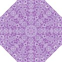 DAMASK2 WHITE MARBLE & PURPLE DENIM Straight Umbrellas View1