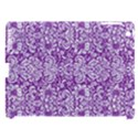DAMASK2 WHITE MARBLE & PURPLE DENIM Apple iPad 3/4 Hardshell Case (Compatible with Smart Cover) View1