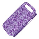 DAMASK2 WHITE MARBLE & PURPLE DENIM Samsung Galaxy S III Hardshell Case (PC+Silicone) View4