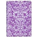 DAMASK2 WHITE MARBLE & PURPLE DENIM iPad Air 2 Flip View1