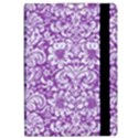 DAMASK2 WHITE MARBLE & PURPLE DENIM iPad Air 2 Flip View2