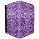 DAMASK2 WHITE MARBLE & PURPLE DENIM iPad Air 2 Flip View3