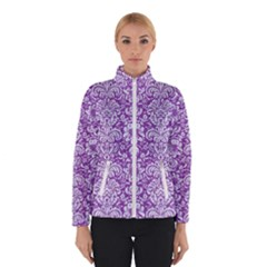 Damask2 White Marble & Purple Denim Winterwear