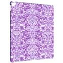 DAMASK2 WHITE MARBLE & PURPLE DENIM Apple iPad Pro 12.9   Hardshell Case View2