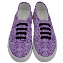DAMASK2 WHITE MARBLE & PURPLE DENIM Men s Classic Low Top Sneakers View1