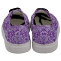 DAMASK2 WHITE MARBLE & PURPLE DENIM Men s Classic Low Top Sneakers View4