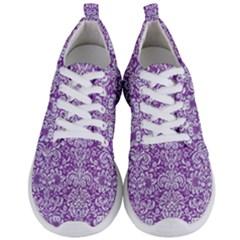 Damask2 White Marble & Purple Denim Men s Lightweight Sports Shoes