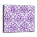 DAMASK1 WHITE MARBLE & PURPLE DENIM (R) Deluxe Canvas 24  x 20   View1
