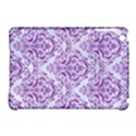 DAMASK1 WHITE MARBLE & PURPLE DENIM (R) Apple iPad Mini Hardshell Case (Compatible with Smart Cover) View1