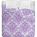 DAMASK1 WHITE MARBLE & PURPLE DENIM (R) Duvet Cover Double Side (King Size) View1