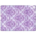 DAMASK1 WHITE MARBLE & PURPLE DENIM (R) Apple iPad Pro 12.9   Hardshell Case View1