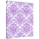 DAMASK1 WHITE MARBLE & PURPLE DENIM (R) Apple iPad Pro 12.9   Hardshell Case View2