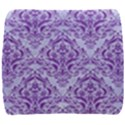 DAMASK1 WHITE MARBLE & PURPLE DENIM (R) Back Support Cushion View1
