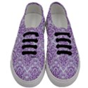 DAMASK1 WHITE MARBLE & PURPLE DENIM (R) Men s Classic Low Top Sneakers View1