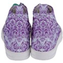 DAMASK1 WHITE MARBLE & PURPLE DENIM (R) Women s Mid-Top Canvas Sneakers View4