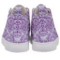 DAMASK1 WHITE MARBLE & PURPLE DENIM (R) Kid s Mid-Top Canvas Sneakers View4