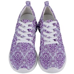 Damask1 White Marble & Purple Denim (r) Men s Lightweight Sports Shoes