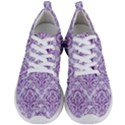 DAMASK1 WHITE MARBLE & PURPLE DENIM (R) Men s Lightweight Sports Shoes View1