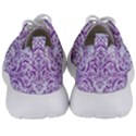 DAMASK1 WHITE MARBLE & PURPLE DENIM (R) Men s Lightweight Sports Shoes View4