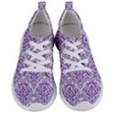 DAMASK1 WHITE MARBLE & PURPLE DENIM (R) Women s Lightweight Sports Shoes View1