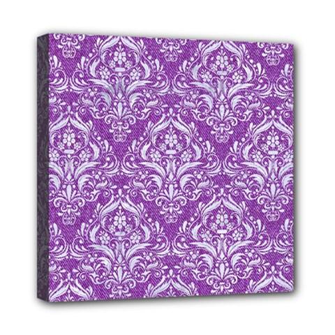 Damask1 White Marble & Purple Denim Multi Function Bag by trendistuff