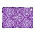 DAMASK1 WHITE MARBLE & PURPLE DENIM Apple iPad Mini Hardshell Case (Compatible with Smart Cover) View1