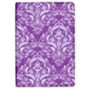 DAMASK1 WHITE MARBLE & PURPLE DENIM iPad Air 2 Flip View1