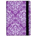 DAMASK1 WHITE MARBLE & PURPLE DENIM iPad Air 2 Flip View2