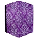 DAMASK1 WHITE MARBLE & PURPLE DENIM iPad Air 2 Flip View3