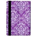 DAMASK1 WHITE MARBLE & PURPLE DENIM iPad Air 2 Flip View4