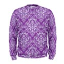 DAMASK1 WHITE MARBLE & PURPLE DENIM Men s Sweatshirt View1
