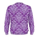 DAMASK1 WHITE MARBLE & PURPLE DENIM Men s Sweatshirt View2