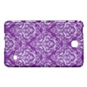 DAMASK1 WHITE MARBLE & PURPLE DENIM Samsung Galaxy Tab 4 (7 ) Hardshell Case  View1