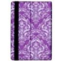 DAMASK1 WHITE MARBLE & PURPLE DENIM Apple iPad Pro 9.7   Flip Case View4