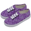 DAMASK1 WHITE MARBLE & PURPLE DENIM Kids  Classic Low Top Sneakers View2