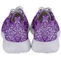 DAMASK1 WHITE MARBLE & PURPLE DENIM Men s Lightweight Sports Shoes View4