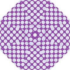 Circles2 White Marble & Purple Denim Hook Handle Umbrellas (small)