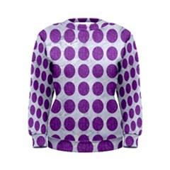 Circles1 White Marble & Purple Denim (r) Women s Sweatshirt