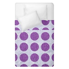 Circles1 White Marble & Purple Denim (r) Duvet Cover Double Side (single Size)