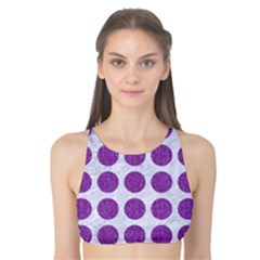 Circles1 White Marble & Purple Denim (r) Tank Bikini Top