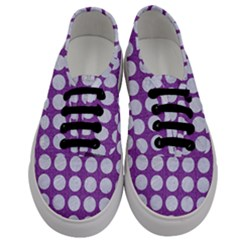 Circles1 White Marble & Purple Denim Men s Classic Low Top Sneakers