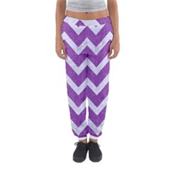 Chevron9 White Marble & Purple Denimchevron9 White Marble & Purple Denim Women s Jogger Sweatpants