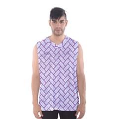Brick2 White Marble & Purple Denim (r) Men s Basketball Tank Top