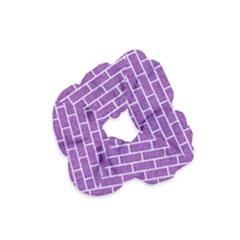 Brick1 White Marble & Purple Denim Velvet Scrunchie